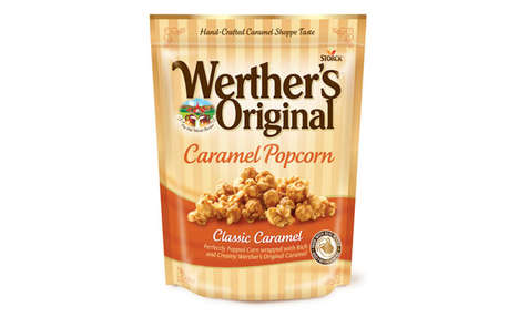 Candy Dessert Snacks - Werther's Original Popcorn Comes in Classic Caramel and Sea Salt & Pretzel