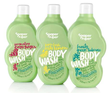 Naturally Derived Body Washes - The Soaper Duper Collection Contains Mostly Natural Ingredients