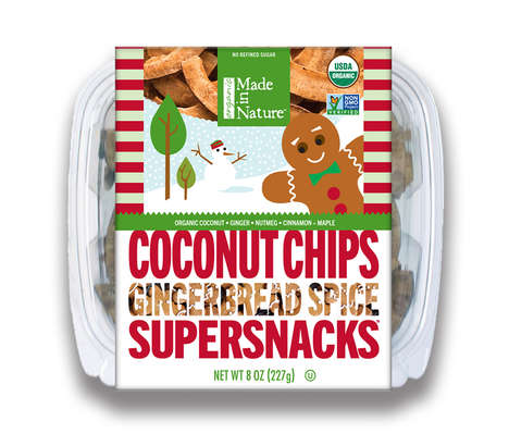 Cookie-Flavored Coconut Chips - Made in Nature's Toasted Coconut Chips Taste Like Gingerbread