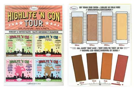 Music-Themed Makeup Palettes - theBalm's Highlight and Contour Kit is Styled Like a Concert Flyer