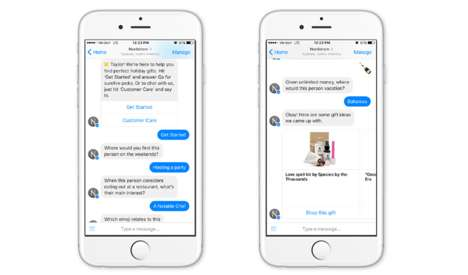 Holiday Shopping Chatbots - Nordstrom's Facebook Chatbot Used AI to Offer Curated Gift Suggestions