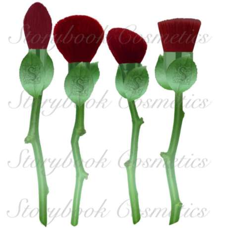 Rose-Shaped Makeup Brushes - This Makeup Brush Set from Storybook Cosmetics Reminds of Bouquets