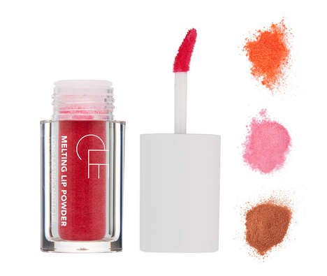 Powdered Pigment Lipsticks - CLE Cosmetics' Powder Lipstick Melts When Pressed Into the Skin