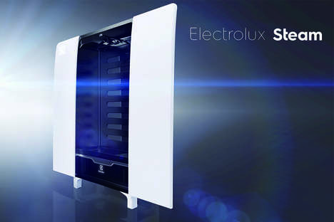 Clothing Closet Steamers - The Electrolux Steam Clothing Cabinet Cleans and Sanitizes Clothing