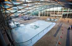Denver International Airport Opened a Free Ice Rink During the Holidays