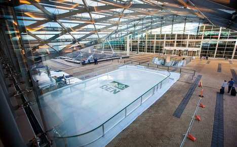Airport Pop-Up Ice Rinks - Denver International Airport Opened a Free Ice Rink During the Holidays