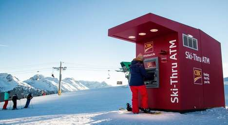 Ski Hill ATMs - The CIBC Ski-Thru Bank ATM is Located on Whistler Mountain
