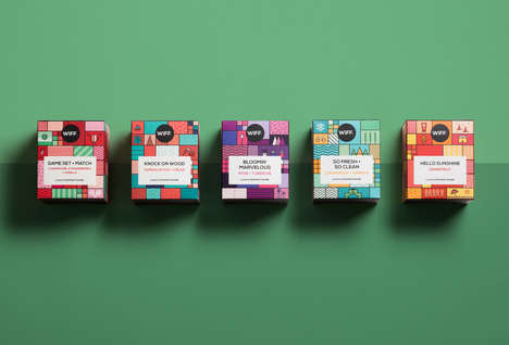 Playful Candle Branding - The WIFF Candle Brand Was Created to Offer Diversity in This Market