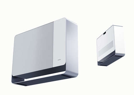 Minimalistic Indoor Air Purifiers - The Braun Air Solution Cleans the Air without Drawing Attention