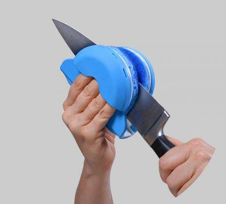 Enhanced Safety Knife Cleaners - The 'Skrub' Makes it Fast and Safe to Clean a Knife
