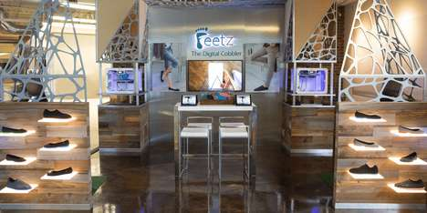 On-Site 3D-Printed Shoes - The 'Feetz@DSW' Pop-Up Let Consumers Watch Their Shoes as They Printed
