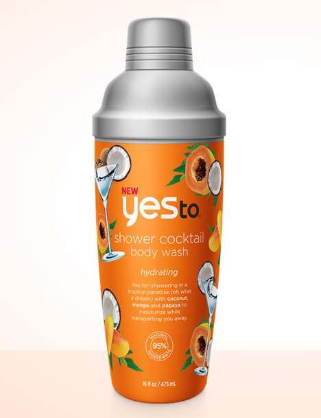 Cocktail-Inspired Body Washes - YES TO's Shower Body Wash Range Takes Cues from Mixed Drinks