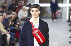 Men's Couture Streetwear - The Fall/Winter Louis Vuitton Collection Was Presented with Supreme