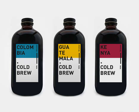 Color-Coded Cold Brew Coffees