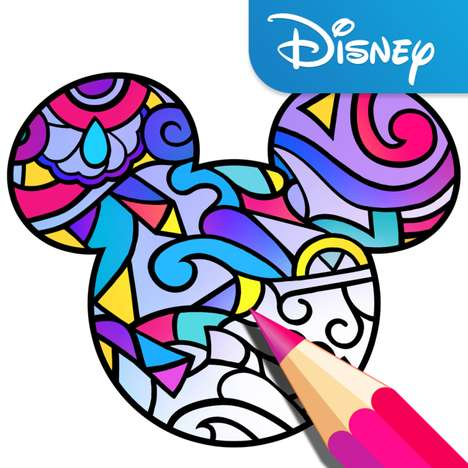 Disney-Themed Adult Coloring Books - Color by Disney is Available Through an App