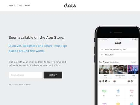 City Travel Exploration Apps - The 'DATS' Travel Planning App Lets Users Bookmark and Share Sights