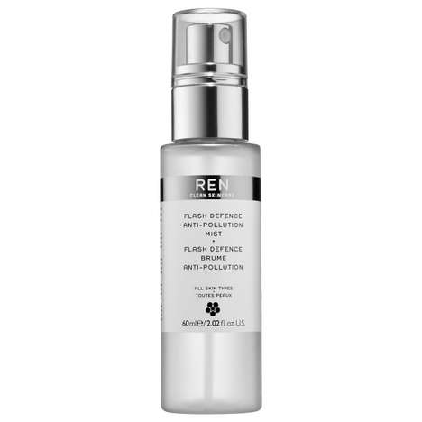 Defensive Face Mists - REN's 'Flash Defence Anti-Pollution Mist' Fights Oxidative Stress