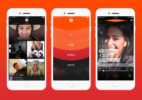 Synchronized Social Music Apps - The Vertigo App Lets Users Simultaneously Listen with Friends