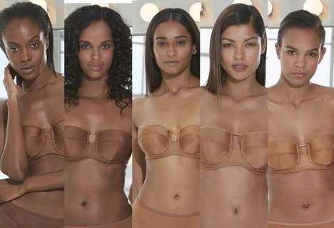Expansive Nude Lingerie Ranges - Nudz Offers Neutral-Colored Lingerie for All Skin Types