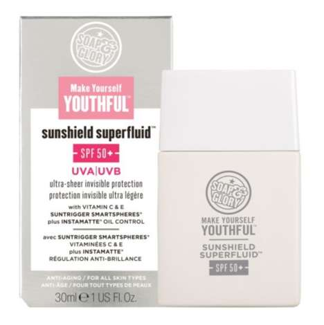 Age Preservation Sunscreens - Soap & Glory's Anti-Aging Sunscreen Shields Skin from UVA, UVB and HEV