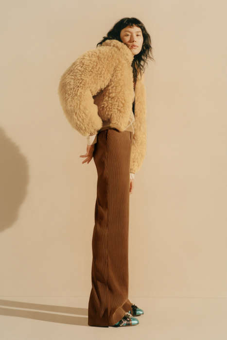 Fur-Heavy Swedish Fashion - The Pre-Fall Acne Studios Collection Features Long Furry Coats and Bags