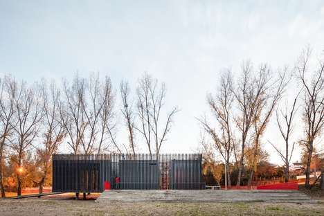 Flood-Resistant Canoeing Stations - Atelier Mob Designed a Hut on the Banks of the Tagus River