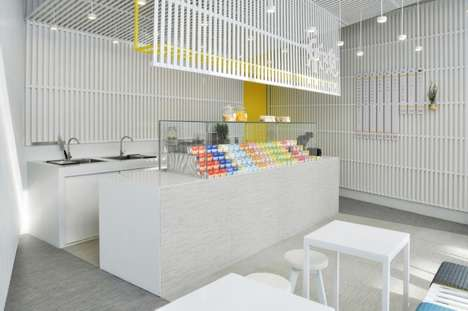 Minimalist Yogurt Shops - The Le Pur Pop-Up Shop Boasts a Clean and Fresh Design