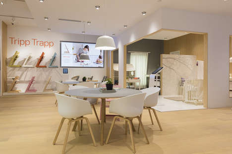 Minimalist Baby Goods Retailers - Shanghai's Stokke Flagship Has an Accessible Streamlined Design