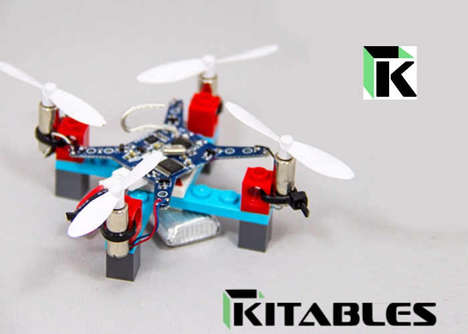 DIY Building Block Drones - The Kitables DIY Mini LEGO Drone Kit Comes with All Necessary Components
