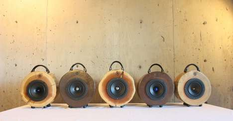 Reclaimed Wood Speakers - The 'Rockit Logs' Audiophile Speakers are Made Using Logging Waste