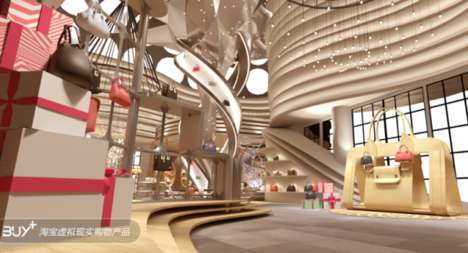 Virtual Reality Shopping Centers - Alibaba Buy+ is a Virtual Mall Showcasing the Company's Products