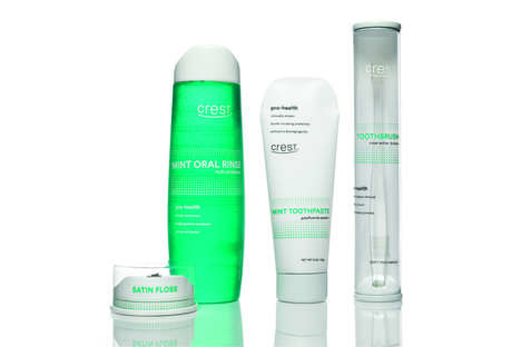 Travel-Friendly Oral Care Packaging - This Crest Dental Care Product Branding is Simple and Clean