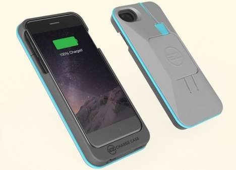 Charging Cord Smartphone Cases - The 'EZ Charge' Battery Charging Case Keeps Devices Running