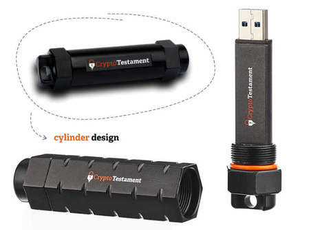 Post-Mortem Password USB Sticks - The 'CryptoTestament' USB Stick Drive Packs Important Digital Info