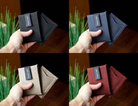 Eco-Friendly Hemp Wallets - The NOMARK 'Mark I' Hemp Canvas Wallet is a Sustainable Accessory