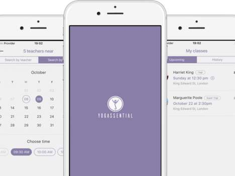 On-Demand Yoga Lessons - 'Yogassential' Connects Users with Qualified Personal Yoga Teachers