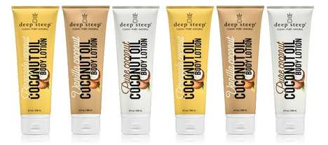 Non-GMO Oil Lotions - The Deep Steep Coconut Oil Body Lotion is Fast-Absorbing