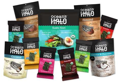 Indulgent Low-Calorie Seaweed Snacks - The Ocean's Halo Dried Seaweed Snacks are a Healthy Choice