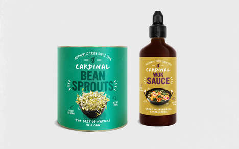 Asian-Inspired Food Branding - This Cardinal Food Packaging Got a Globally Inspired Makeover