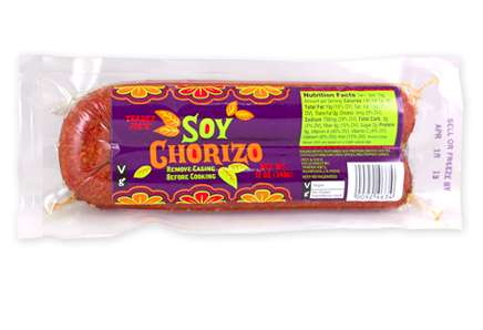 Meatless Spanish Sausages - Trader Joe's 'Soy Chorizo' Mimics a Classic Cured Pork Sausage