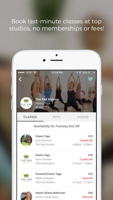 Flexible Fitness Apps - 'ZenRez' Helps People Book Last-Minute Yoga, Pilates and Barre Classes