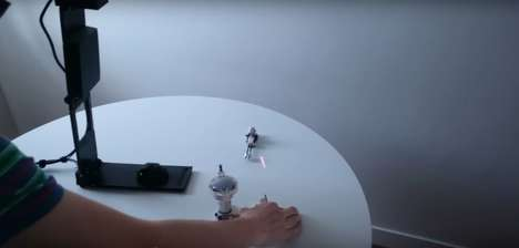 3D Projection Lamps - HoloLamp Offers Augmented Reality Without Glasses or a Headset