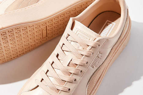 Pastel Platform Sneakers - The 'Basketball Platform' from PUMA Now Comes in Beige and Powder Blue