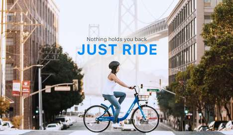 Dock-Free Bike-Sharing Systems - bluegogo Lets Riders Share Bikes Without Having to Deposit Them