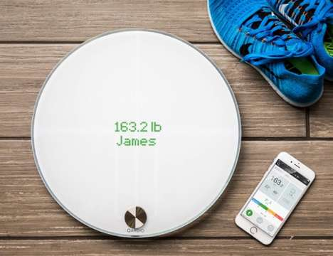 BMI-Tracking Scales - The 'QardioBase' Wireless Smart Health Scale Tracks a Number of Metrics