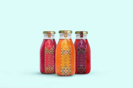 Egyptian Fruit Juice Collections - Mas Green Offers Fruit and Juices in Patterned Packaging