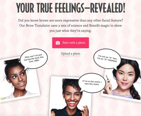 Eyebrow Analysis Tools - Benefit Cosmetics' 'Brow Translator' Reveals What Expressive Eyebrows Say