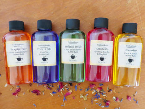 Wizardly Bubble Bath Sets - TeaSoapBooks' Miniature Bath Set is Harry Potter-Themed