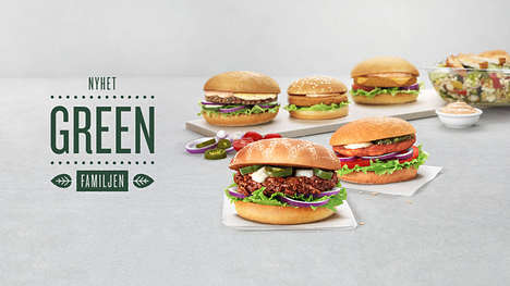Meatless Burger Menus - Swedish Fast Food Chain 'Max' Now Sells Four Meatless 'Max Green Burgers