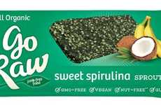 Spirulina Energy Bars - Go Raw's Spirulina Snack Boasts Coconut and Banana Ingredients